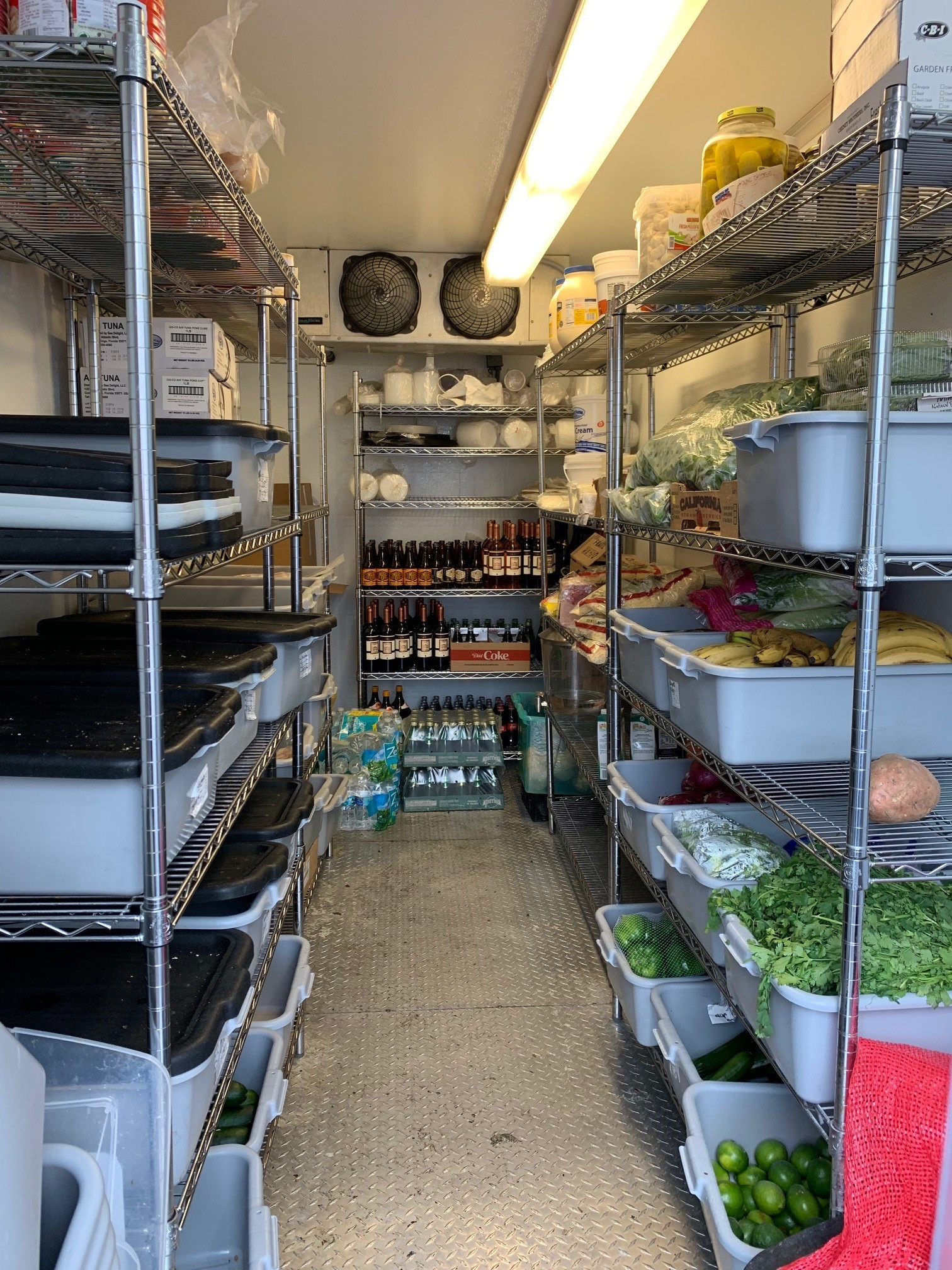 Used Small Refrigerated Trailer -Inside